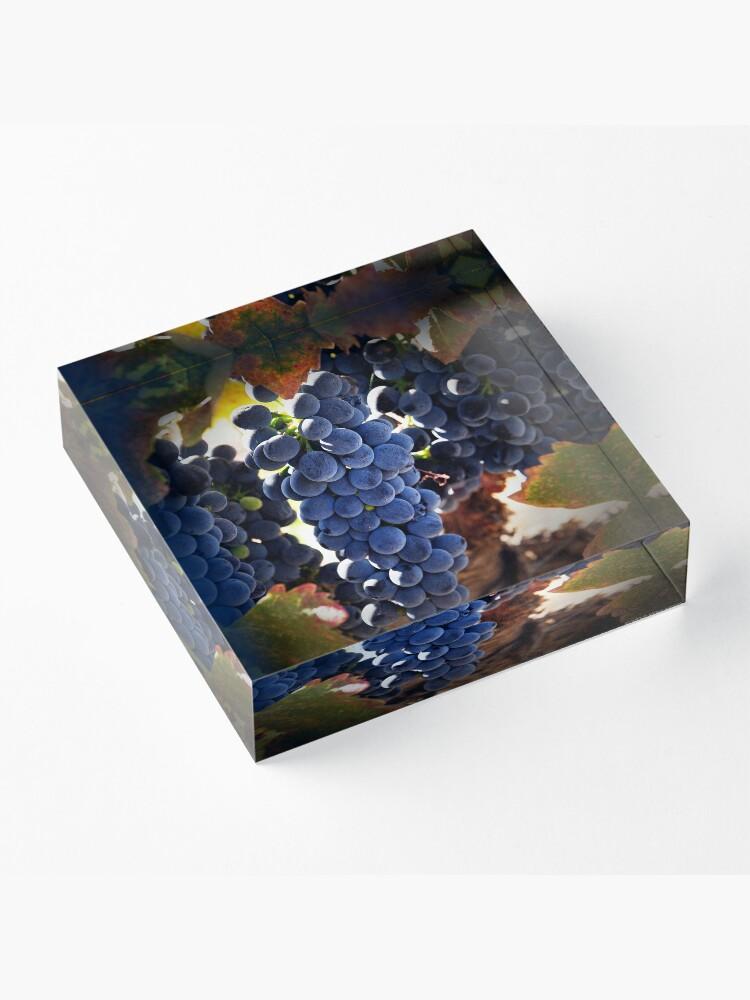Alternate view of Grapes Acrylic Block