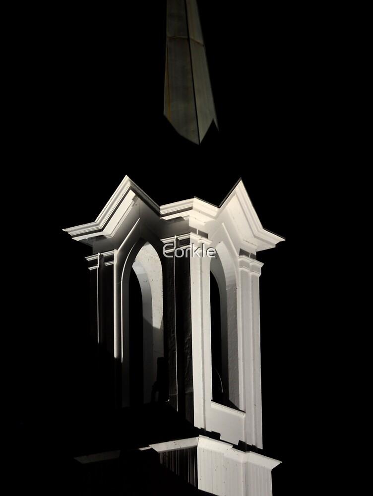Moonlit Steeple by Corkle