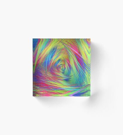 Forma 3 chaos continuous #fractal art Acrylic Block