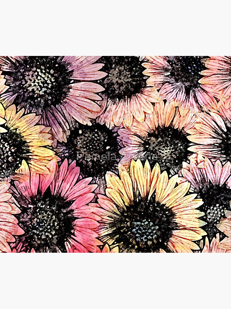Sunflowers of Summer Floral Print by xpressio
