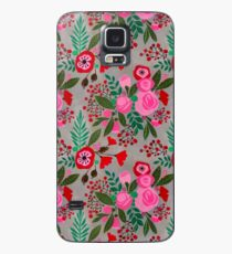 decorative cut paper collage floral pattern Case/Skin for Samsung Galaxy