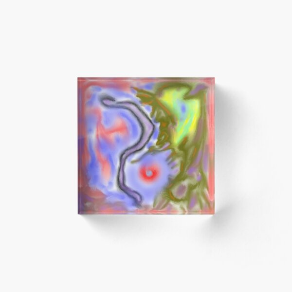 Abstract Water Color  Acrylic Block