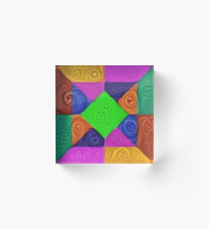 DeepDream Color Squares Visual Areas 5x5K v1448026462 Acrylic Block