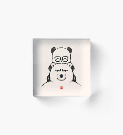Panda And Polar Bear Acrylic Block