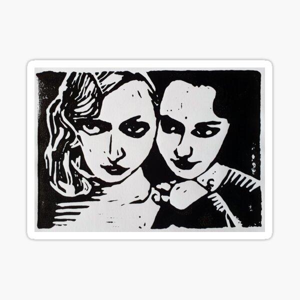 Anais and June Sticker