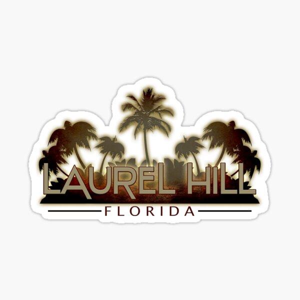 Laurel Hill Florida palm tree words Sticker