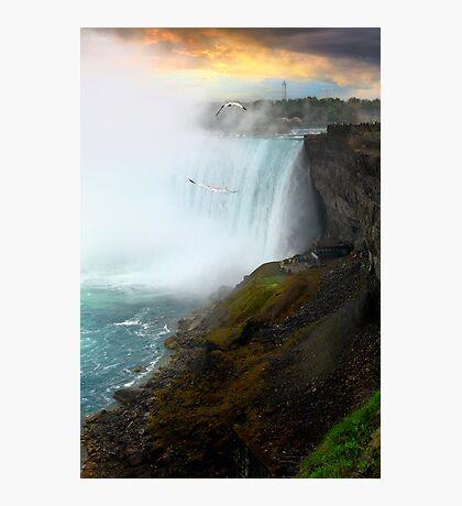 Sunset on Niagara Falls Photographic Print