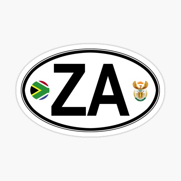 South Africa Oval Country Code Decal Sticker