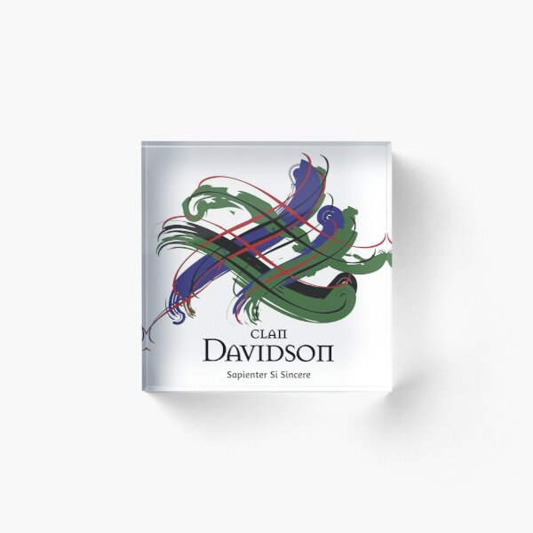 Clan Davidson  Acrylic Block