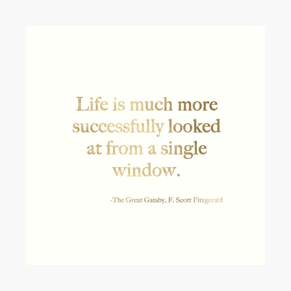 La vida se ve mucho más exitosamente desde una sola ventana. Lámina artística