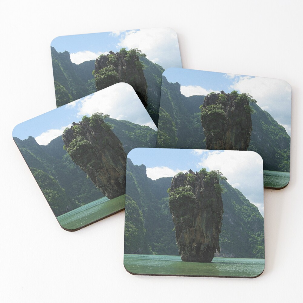 James Bond Island (Man with the Golden Gun !) Coasters (Set of 4)