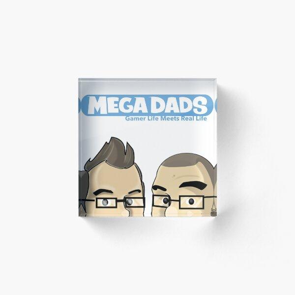 Mega Dads: Peek A Boo Acrylic Block