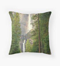 """Yosemite Falls"" Throw Pillow"