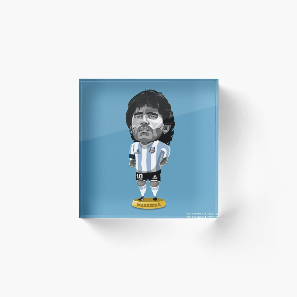 Maradona Figure Art Board Print By Rudigundersen Redbubble