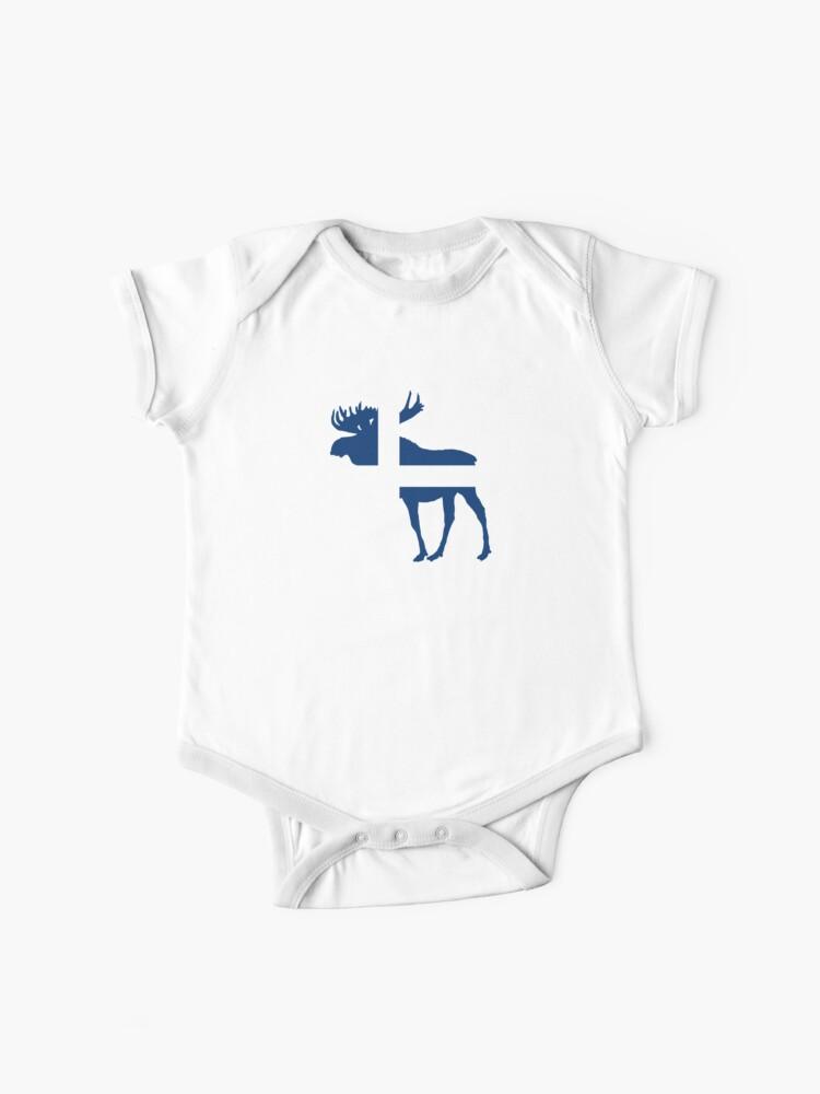 Swedish Flag and Moose Novelty Toddler//Infant Crewneck Short Sleeve Shirt Tee
