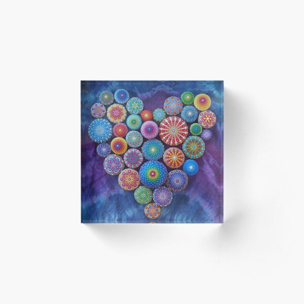 Love Rocks Mandala Stone Collection by Elspeth McLean Acrylic Block
