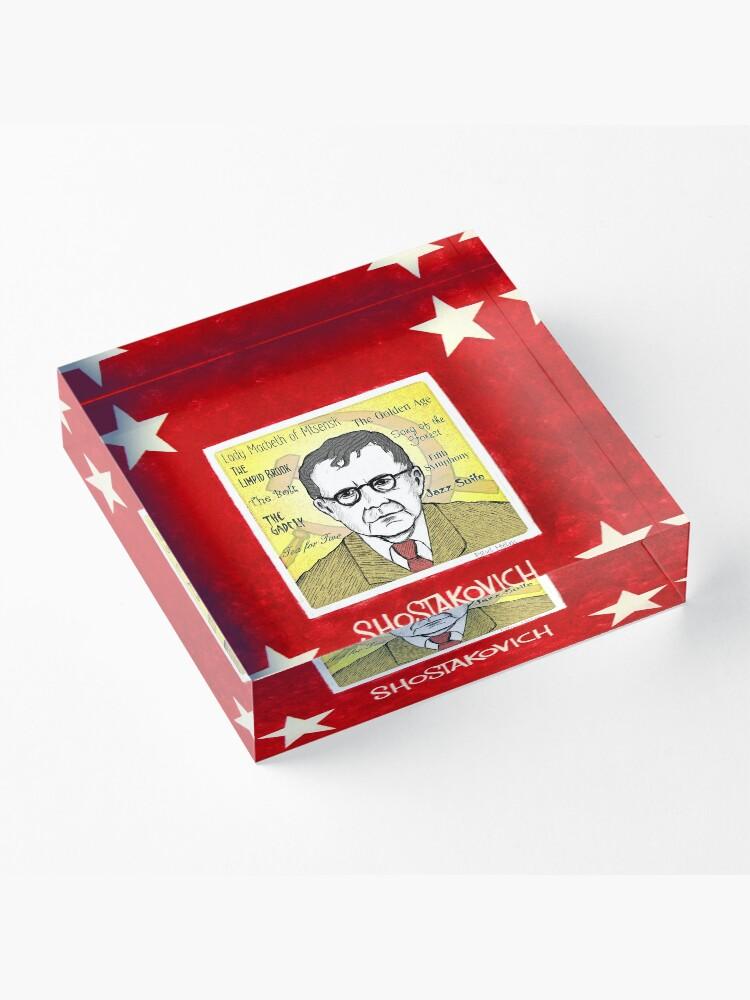 Alternate view of Dmitri SHOSTAKOVICH - the Russian composer Acrylic Block