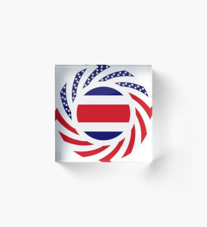 Costa Rican American Multinational Patriot Flag Series Acrylic Block