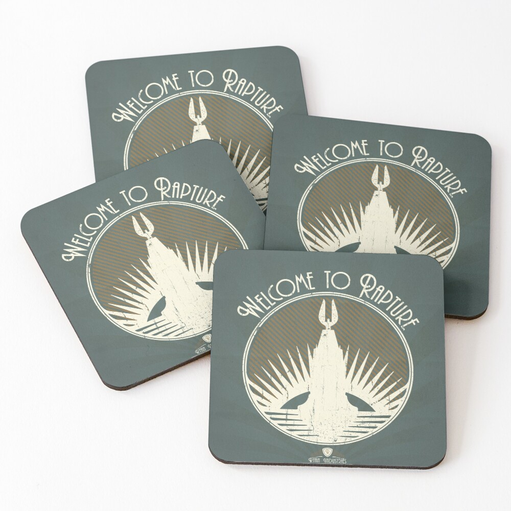 Bioshock Welcome To Rapture Coasters (Set of 4)
