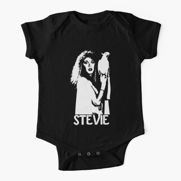 Stevie - White Stencil - Nicks Short Sleeve Baby One-Piece