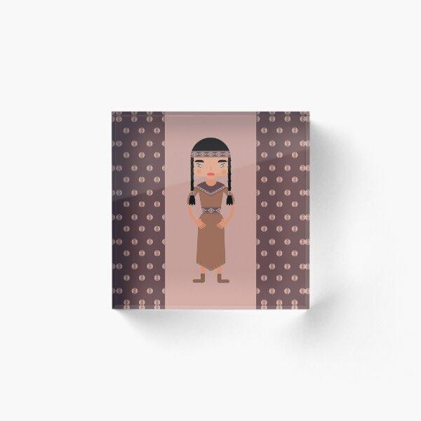 Native American Girl Acrylic Block