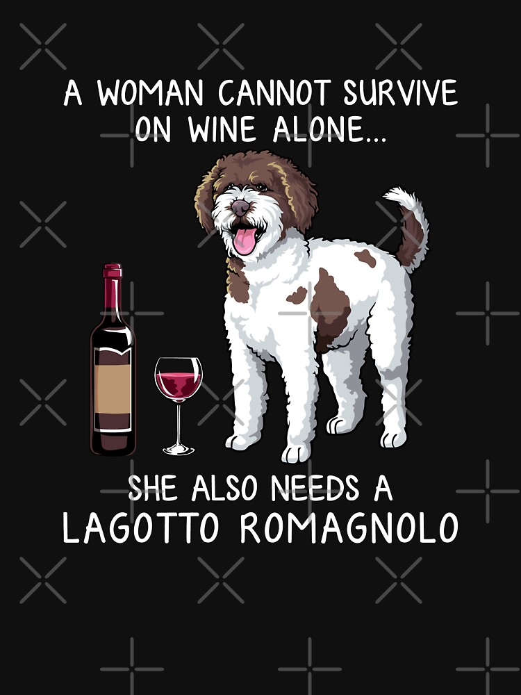 Lagotto Romagnolo and wine Funny dog by TeeDoozy