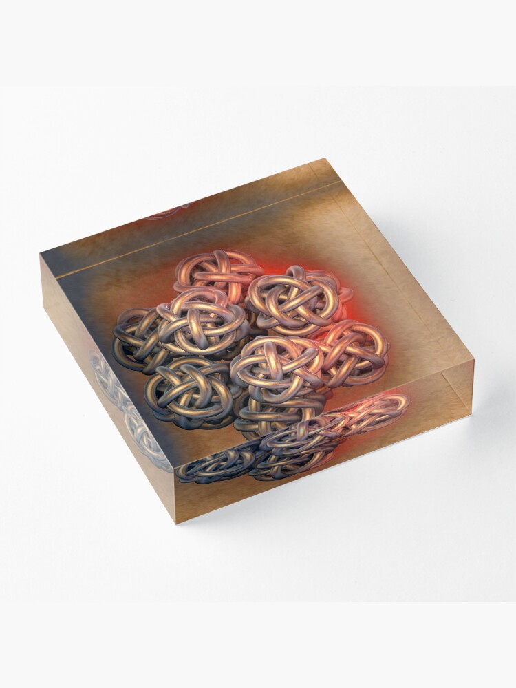 Alternate view of Gordian Knot  Acrylic Block