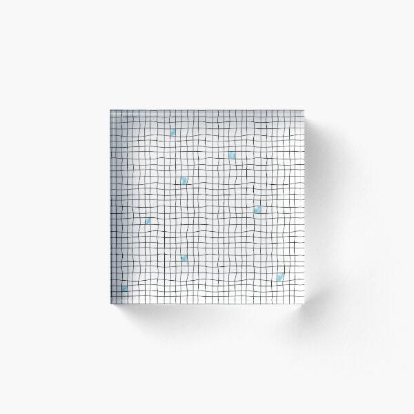 Carreaux - Blue Bloc acrylique