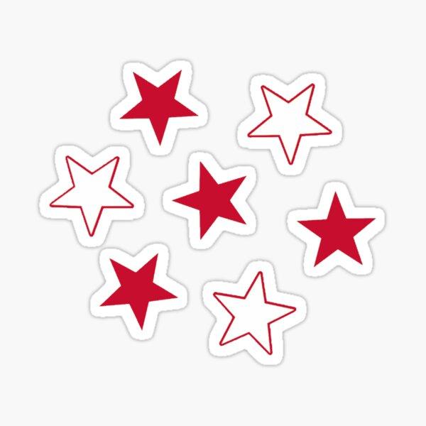 red and white stars Sticker