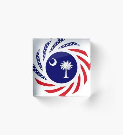 South Carolina Murican Patriot Flag Series Acrylic Block