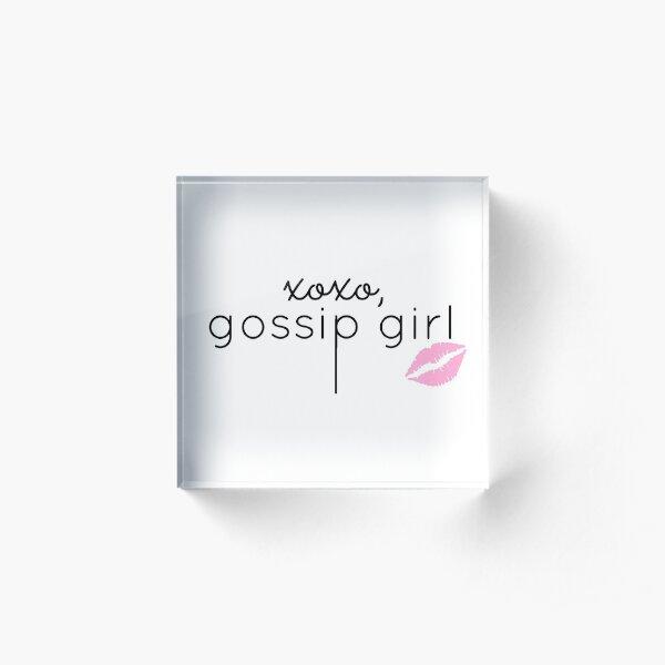 Gossip Girl design Acrylic Block