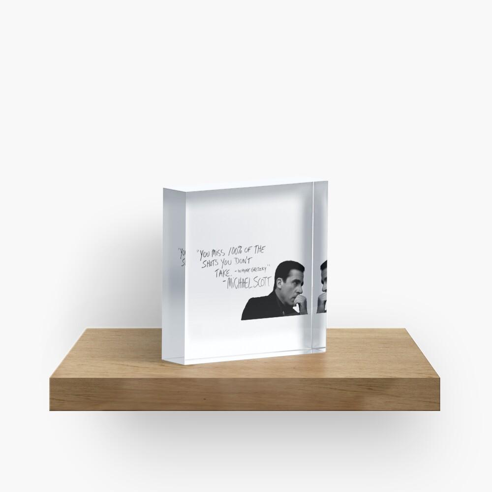 the office michael scott  Acrylic Block