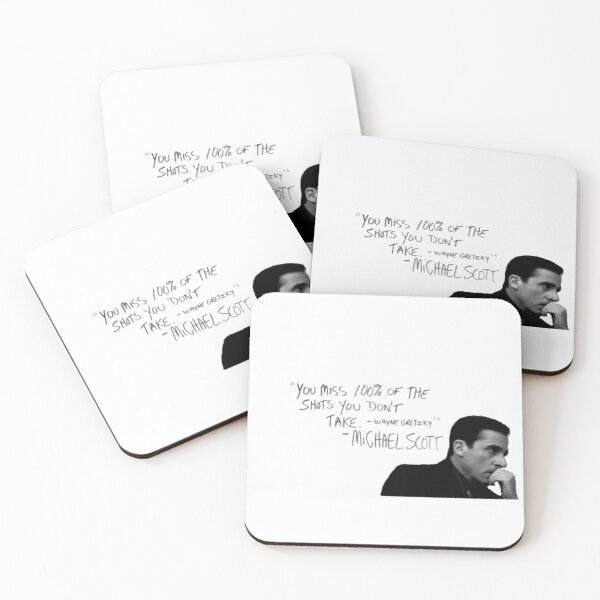 the office michael scott  Coasters (Set of 4)