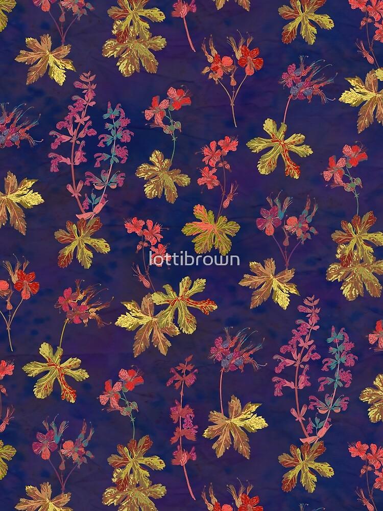 Blue Geraniums by lottibrown