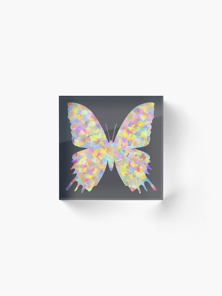 Alternate view of Pastel Motley Butterfly Acrylic Block