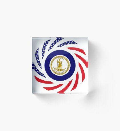 Virginian Murican Patriot Flag Series Acrylic Block