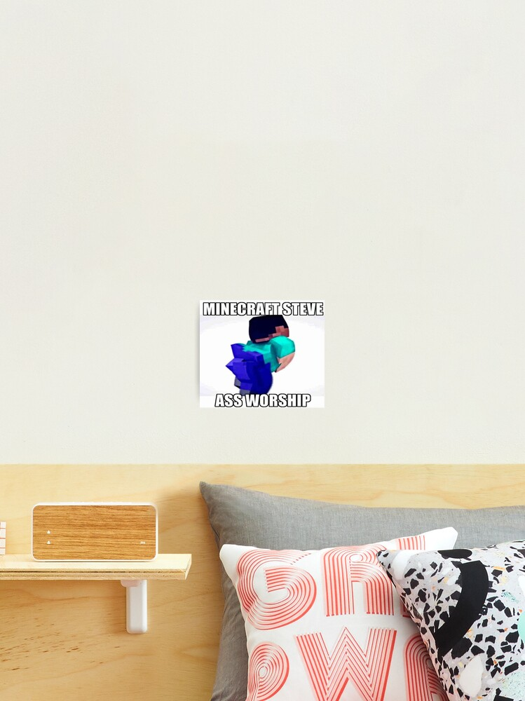 Minecraft Steve Meme Photographic Print By Boomerusa Redbubble