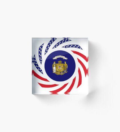 Wisconsin Murican Patriot Flag Series Acrylic Block