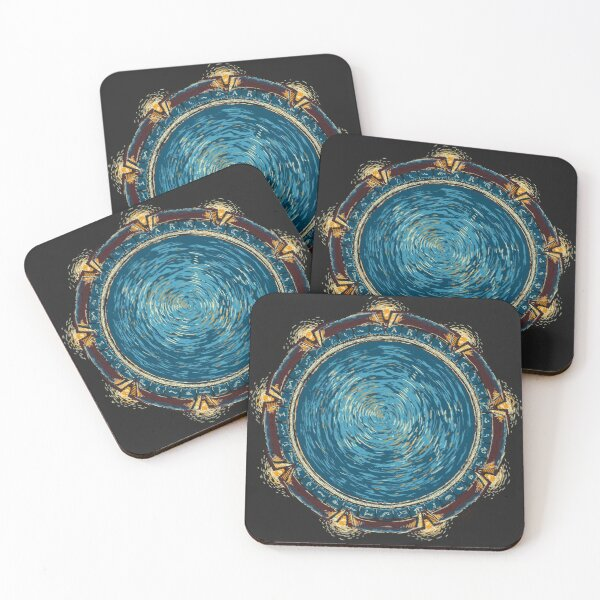 Starry Gate Coasters (Set of 4)