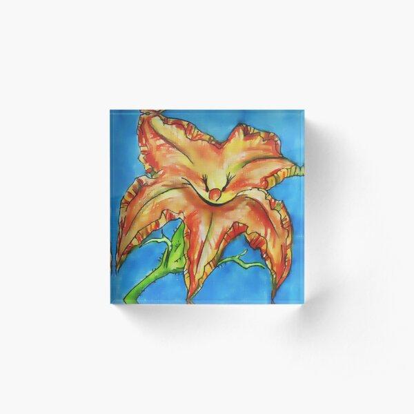 pumpkin flower Acrylic Block