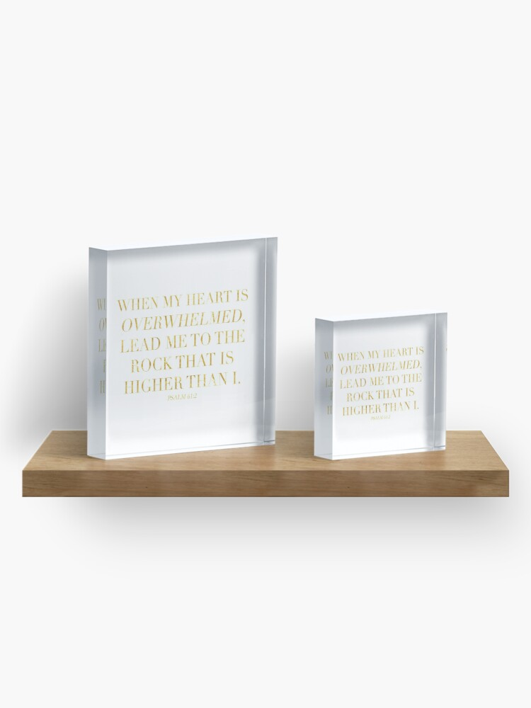Alternate view of Psalm 61:2 Acrylic Block