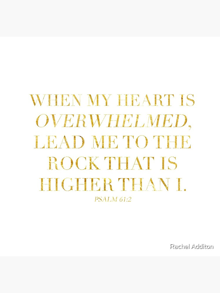 Psalm 61:2 by racheladditon