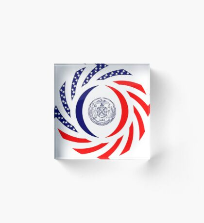 New York City Murican Patriot Flag Series Acrylic Block