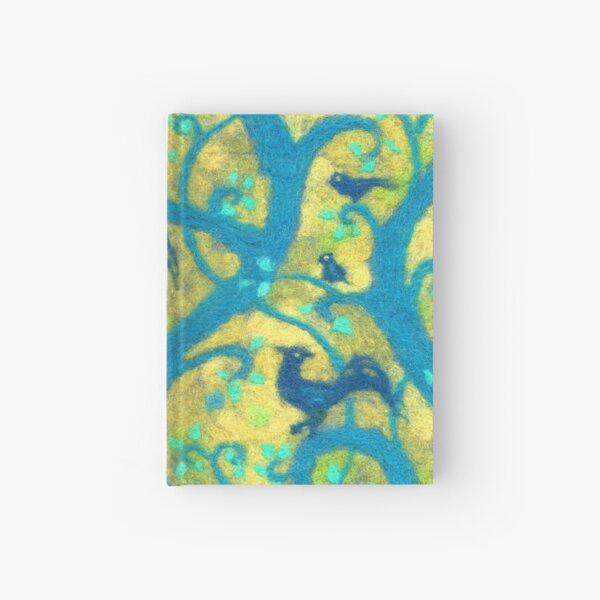 Blue Birds Paradise Garden Magic Forest Felted Wool Hardcover Journal