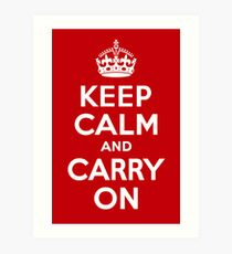 Keep Calm & Carry On - Red Art Print