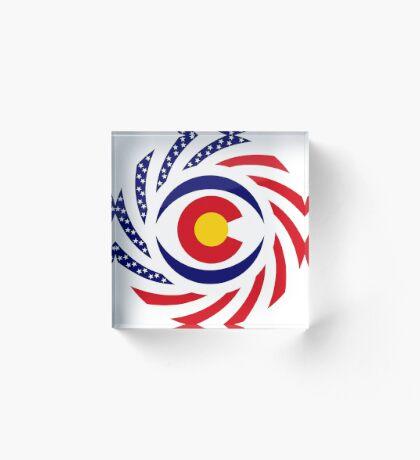 Coloradan Murican Patriot Flag Series Acrylic Block