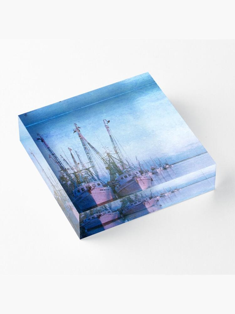 Alternate view of Dockside on the Darien ll Acrylic Block