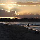 Days end at the beach by Graham E Mewburn