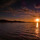 Sunset from Fisherrow Harbour by Nik Watt