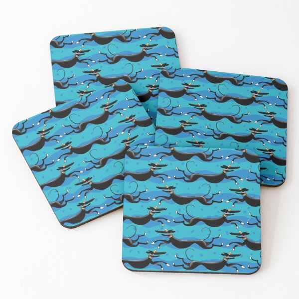 Blue Zoomies pattern Coasters (Set of 4)